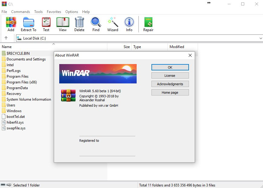 WinRAR 6.0 Beta 1 Crack With Key Download [Latest]